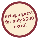Bring a guest for only 500 extra