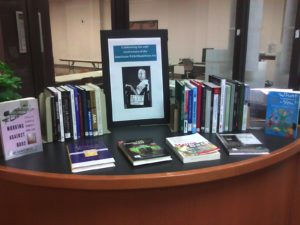 books on display for marketing your book